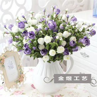 Imitation place pe real flower tulip garden home decoration