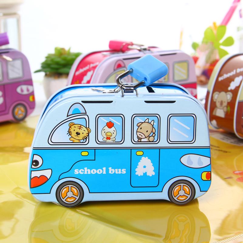 小巴士存钱罐 儿童创意生日礼物幼儿园小礼品可爱卡通汽车储蓄罐图片