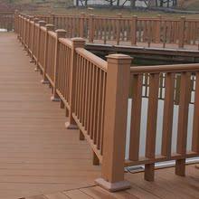 栅栏基础建材 公园防腐木方围栏 户外塑木栏杆 扶手花园平台护栏