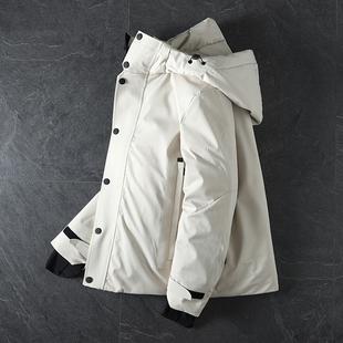 ODM公司货 防风防水面料!70白鸭绒!冬季新品男士保暖羽绒服外套