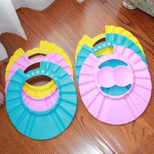 超低价6款现货厂家直销 EVA宝宝洗头帽儿童浴帽婴幼儿护耳洗发帽