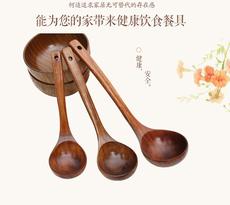 何适长柄大汤勺 大木勺 无洞勺稀饭勺烹饪厨具火锅勺子