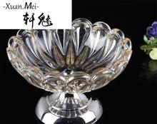 轩魅水晶玻璃小果盘家居饰品酒店KTV实用装 饰器皿摆件储物盘