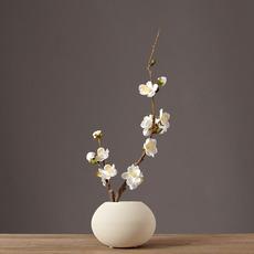 中式仿真花假花梅花套装 家居装饰品 客厅电视柜装饰花瓶花艺摆件