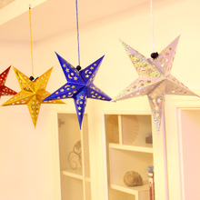 Christmas decorations, accessories, stars, Pentagram pendants, decorations, decorations, decorations