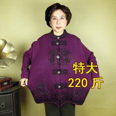 中老年人女装中年特大码奶奶装针织衫胖太太加肥加大上衣毛衣服装