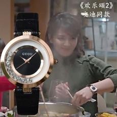 欢乐颂2安迪刘涛同款手表女 时尚潮流 走钻表 韩版 休闲皮带手表