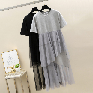 鱼尾连衣裙春夏新款韩版赫本法国很仙的高腰法式山本超仙复古裙女