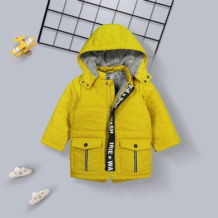 男童棉衣宝宝冬装2018新款可折帽小童加绒加厚保暖棉袄外套