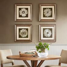 现代墙画客厅书房花卉美式家居壁画 饰画 Harbor House花型刺绣装