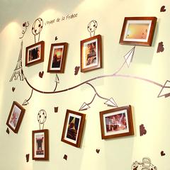 松木实木照片墙相片墙相框墙组合 客厅楼梯画框墙框相片