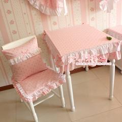 花开木木 100%实物拍摄新水玉双层花边桌布,尺寸可定做