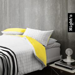 夜家居 床上用品 纯棉四件套 全棉被套格子4件套宜家简约风格包邮