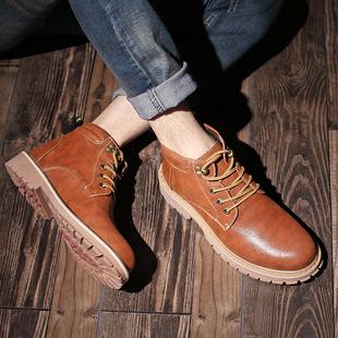 棉靴男英伦马丁靴男靴子男士工装鞋高帮男鞋工装靴男短靴复古皮靴