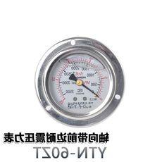 红旗带前边耐震压力表YTN-60ZT 轴向 外壳不锈钢 螺纹M14*1.5
