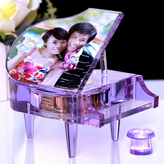 個性結婚禮物創意高檔實用送閨蜜朋友diy定制新婚慶禮品水晶擺件