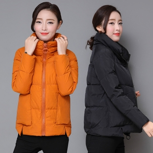 珂茵绮2017冬季新款潮女短款棉袄韩版时尚加厚羽绒棉衣面包服外套