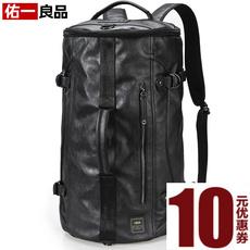 佑一良品潮牌双肩包男背包男女旅行包大容量手提单肩水桶包140021