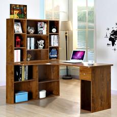 电脑桌家用转角台式带书架柜组合现代简约办公学习写字书桌简易桌