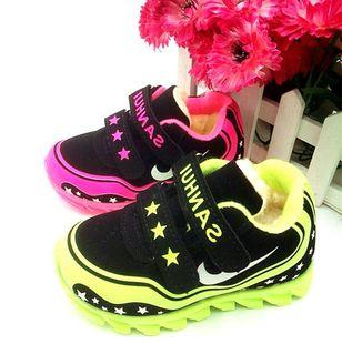 冬季儿童棉鞋大棉中小童休闲加绒加厚运动鞋 0-1-2-3岁男童女童鞋