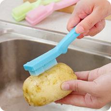 厨房挂式瓜果蔬菜清洁刷不伤水果蔬果刷萝卜山药去泥刷土豆清洗刷