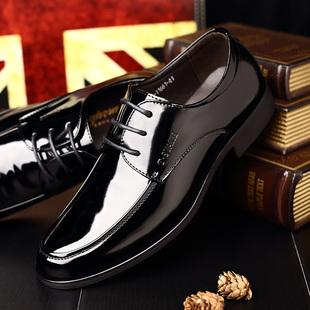 黑色特大码45真皮商务正装男皮鞋46漆皮亮皮男鞋47大号婚鞋新郎48