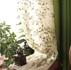 美式乡村亚麻纯色定制窗帘 卧室客厅飘窗遮光布成品窗纱帘北欧风