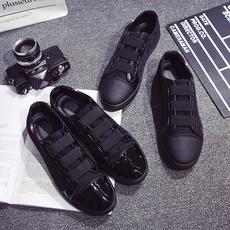 夏季男鞋子黑色一脚蹬懒人帆布鞋男士休闲鞋韩版板鞋学生布鞋潮鞋