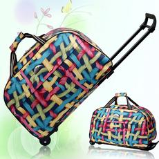 行李包防水手提包拉杆包男女旅行箱登机包旅行袋金属拉杆软箱包