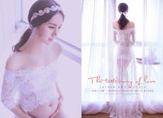 2017新款影楼孕妇装写真服装时尚孕妈咪拍照摄影服蕾丝长裙孕味服