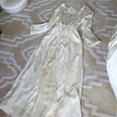 春秋真丝睡袍女性感长袖吊带两件套长款套装睡裙睡衣浴袍家居服夏