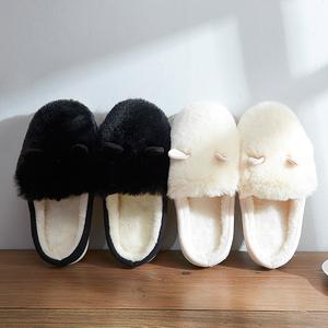远港冬季棉拖鞋可爱卡通拖鞋毛毛拖鞋女士棉拖舒适冬季防滑月子鞋棉拖鞋