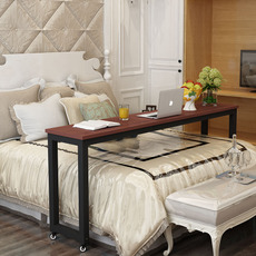 跨床桌可移动笔记本电脑桌床上懒人电脑桌床边书桌学习桌简约钢木