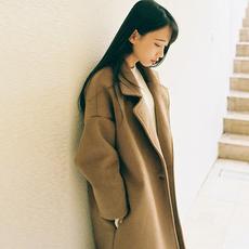 毛呢外套女妮子中长款2017春秋新款韩版学生修身加厚复古呢子大衣