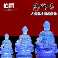 琉璃莲花药师佛像摆件 释迦摩尼佛像摆设 家居大日如来佛像工艺品