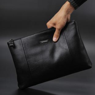 代购精品 真皮软皮商务头层牛皮手拿包 大容量男款钱包 男士手包