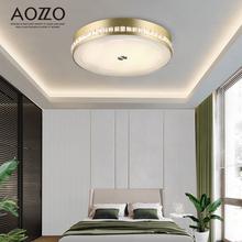 奥朵卧室灯 led吸顶灯简约现代创意房间灯个性水晶圆形主卧室灯具