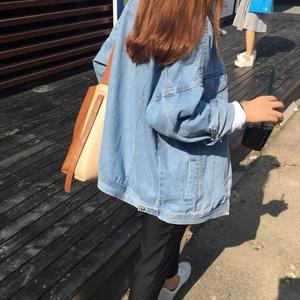 牛仔外套女春秋装2018新款潮宽松学生韩版bf原宿风薄款上衣短外套女式外套