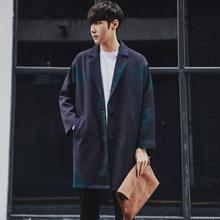 新款 渐变色中长款 风衣外套男日系复古韩版 潮休闲薄款 春装 男装 大衣