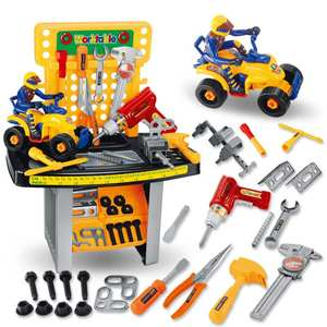 <span class=H>玩具</span>台工具汽<span class=H>车</span><span class=H>儿童</span>工程师过家家螺丝刀电动钻维<span class=H>修理</span>套装男女孩子