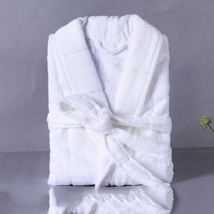 Warm lovers exclusive white robe hotel material bath gown ho