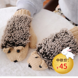 Girls Novelty Cartoon Winter Gloves Women Warm Glove Mitte
