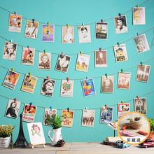 饰麻绳夹子悬挂相框墙组合家居客厅卧室创意壁饰壁挂 网格照片墙装