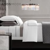简约床笠纯色床上套件 全棉美式刺绣床品四件套纯棉绗缝被多件套