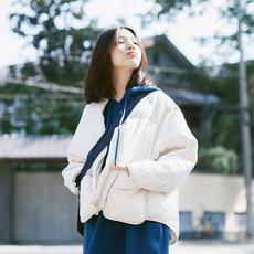 鹿笙SH009白色面包服ulzzang2017冬季新款短款轻薄羽绒服短款棉衣