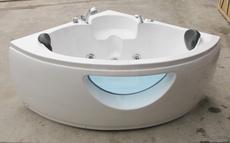 三角扇形浴缸亚克力1.2米1.3 1.5米冲浪按摩恒温加热双人情侣浴盆