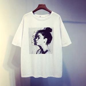 2018夏季新款韩版<span class=H>女装</span>个性体恤打底衫短款休闲宽松短袖T恤上衣潮