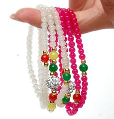 人造水晶多层串珠手链女新款地摊货韩版时尚糖果甜美10元以下佛珠