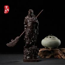 越南守玖系窨坛料隳灸镜窆毓家居摆件木雕武财神木雕工艺品关羽
