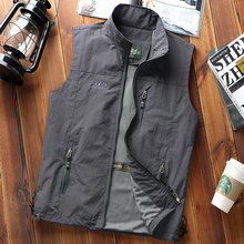 Men's fishing waistcoat in summer thin multi-pocket summer breathable shoulder professional photographic vest outdoor Kit